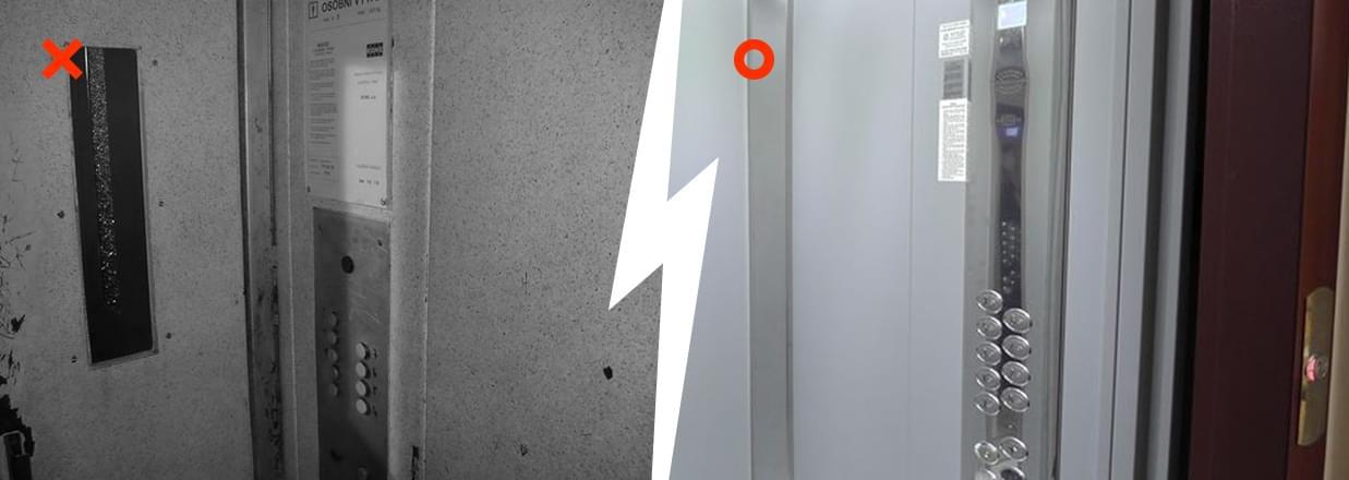 Ukázka modernizace výtahu